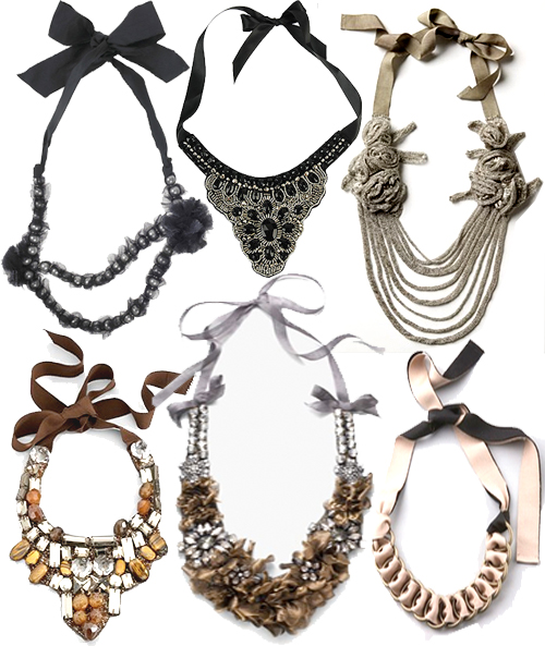 Ribbon-necklace