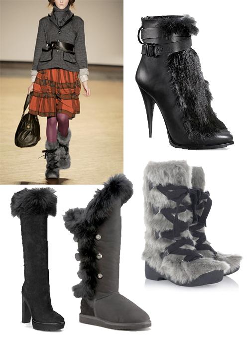 Fur-boots