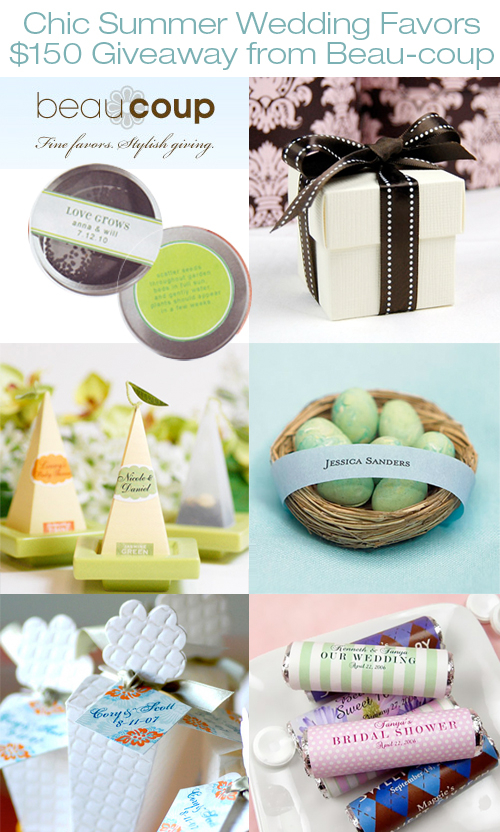 Brandhabit Chic Summer Wedding Favors 150 Giveaway From Beau Coup